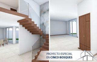 Interior de Proyecto Especial en Residencial Cinco Bosques Tu Casa a Tu Medida
