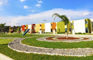 Área verde de casas en Valle de Luz 2